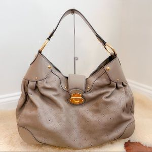Authentic Louis Vuitton Mahina Solar GM Taupe